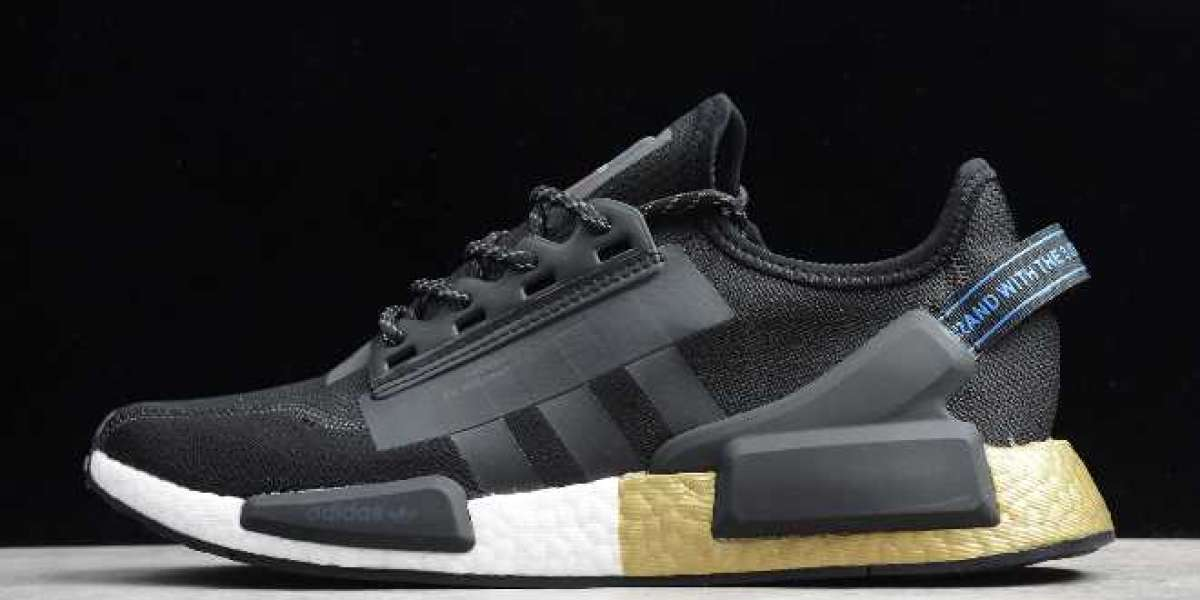 2020 adidas NMD_R1 V2 Black/Gold Metallic FW5327 For Cheap Online