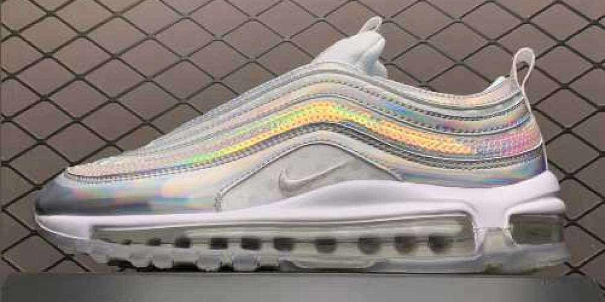 Don't miss this 2020 Nike Air Max 97 White iridescent