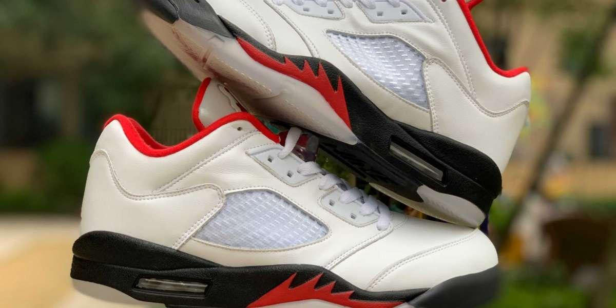 """Air Jordan 5 Low Golf """"Fire Red"""" For Men CU4523-100"""