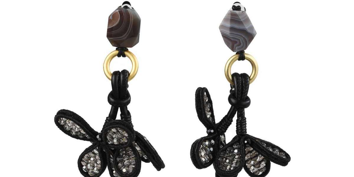 Handcrafted Dangling Statement Earrings