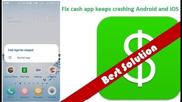 Fix cash app keeps crashing Android and iOS   Howcashapp