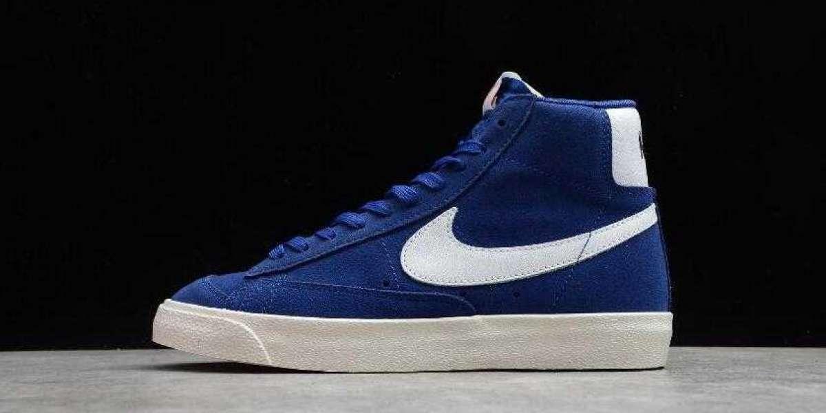 Online Sale Nike Blazer Mid 77 Suede Deep Royal Blue White Shoes