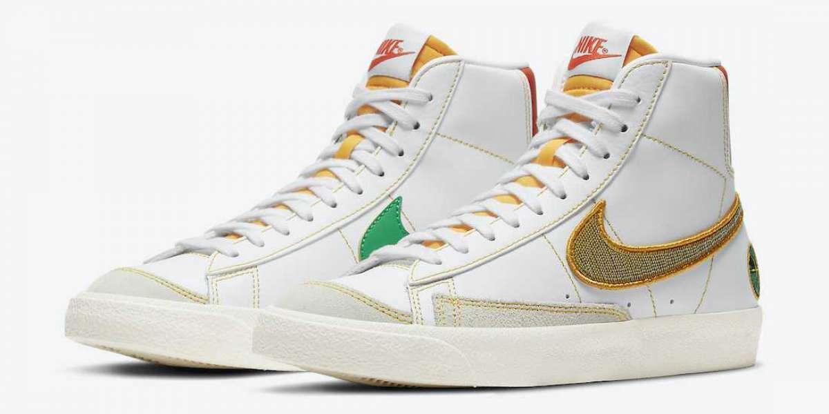 "New 2020 Nike Blazer Mid GS ""Raygun"" Basketball Shoes DD9528-100"