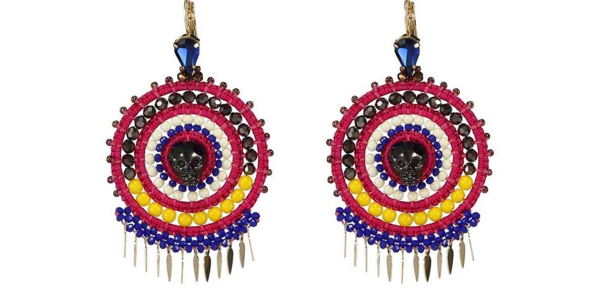 Dangling Crystal Star Earrings