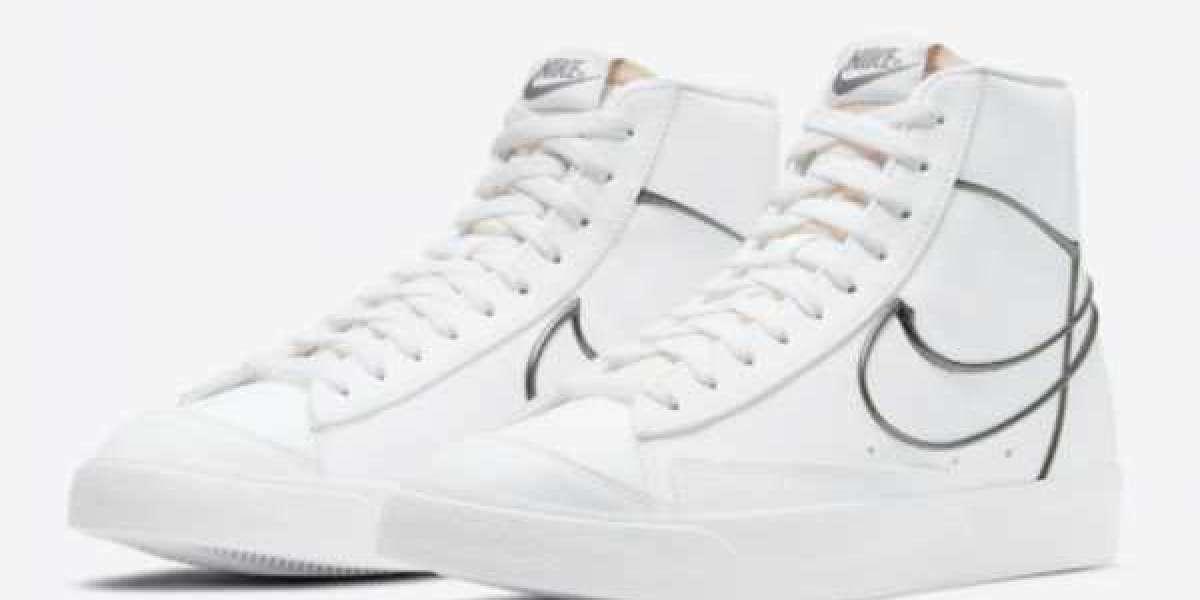 """2021 Nike Blazer Mid '77 """"Metallic Pewter"""" Sneaker DH4099-100"""