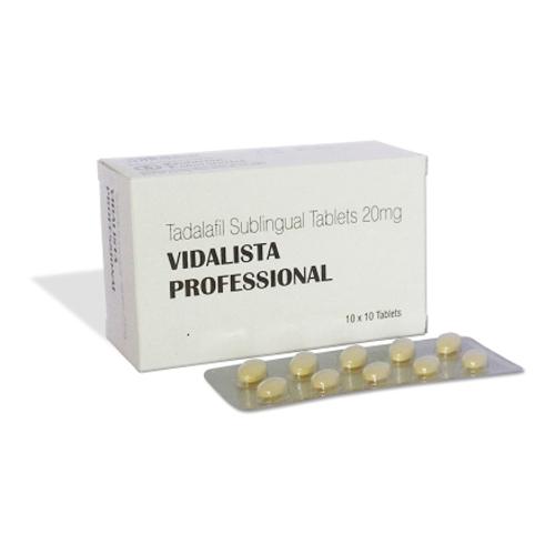 How to use Vidalista Professional 20 Mg (Tadalafil) tablet