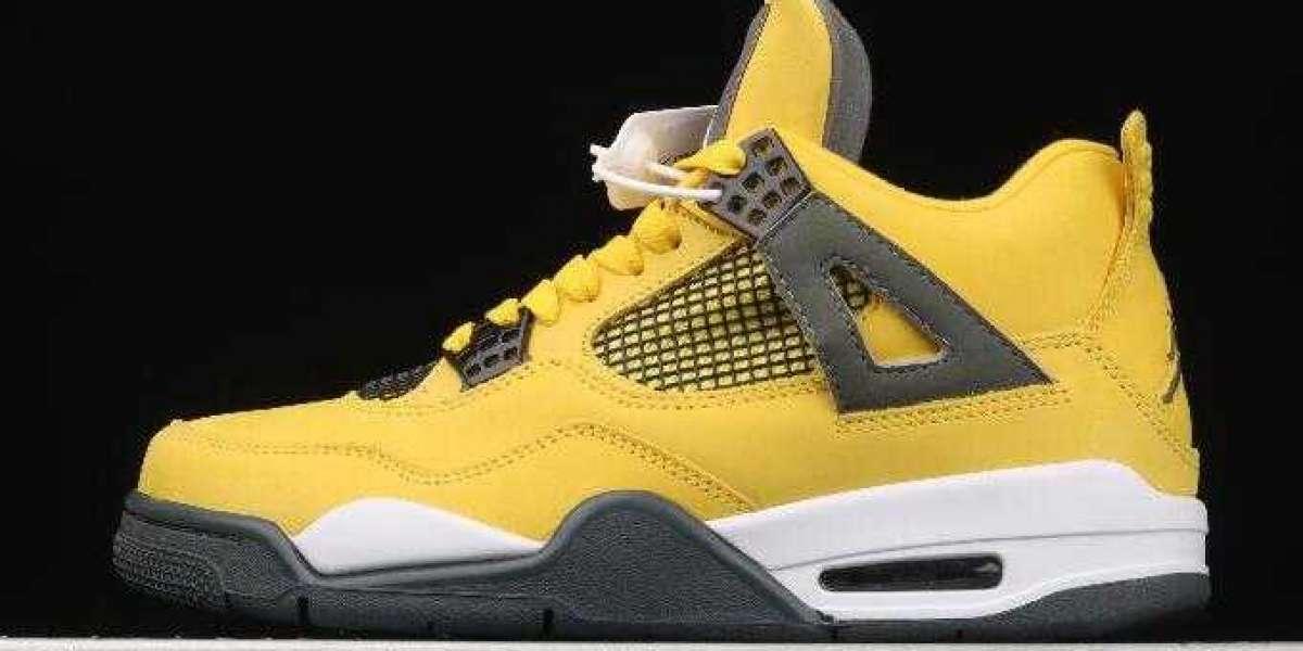 Where to Buy New Drop Air Jordan 4 Lightning Running Sneakers
