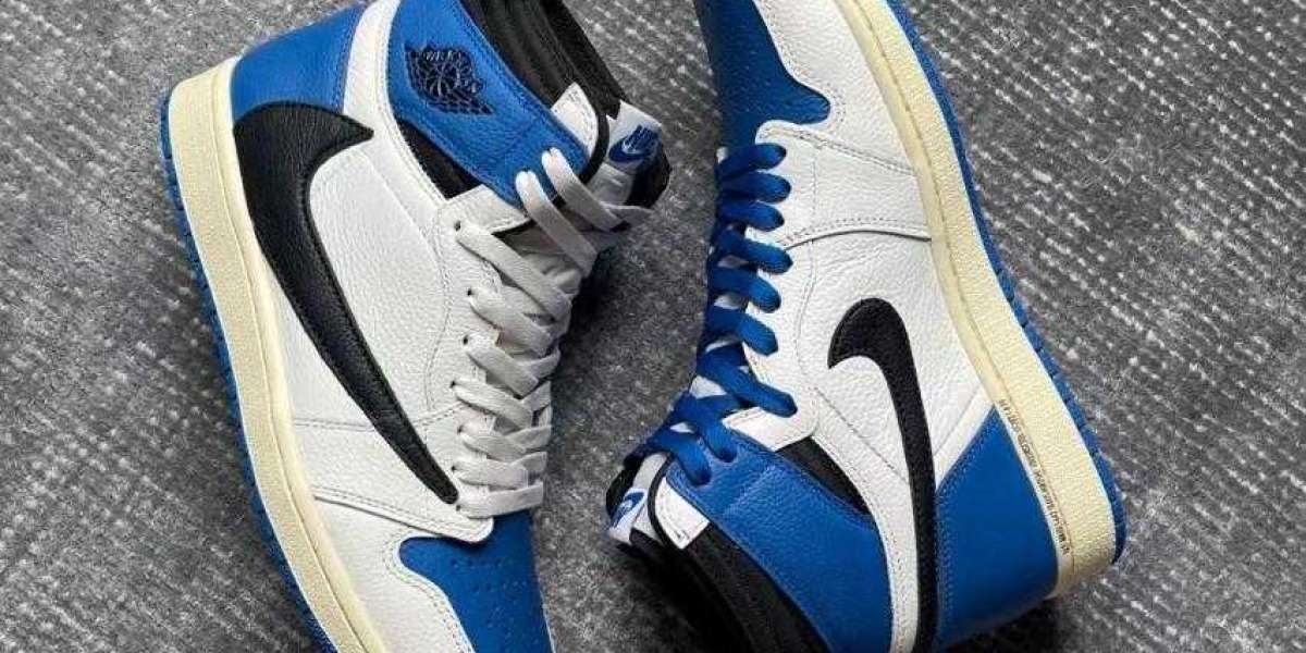 Buy Awesome Travis Scott x Fragment x Air Jordan 1 High OG SP Military Blue