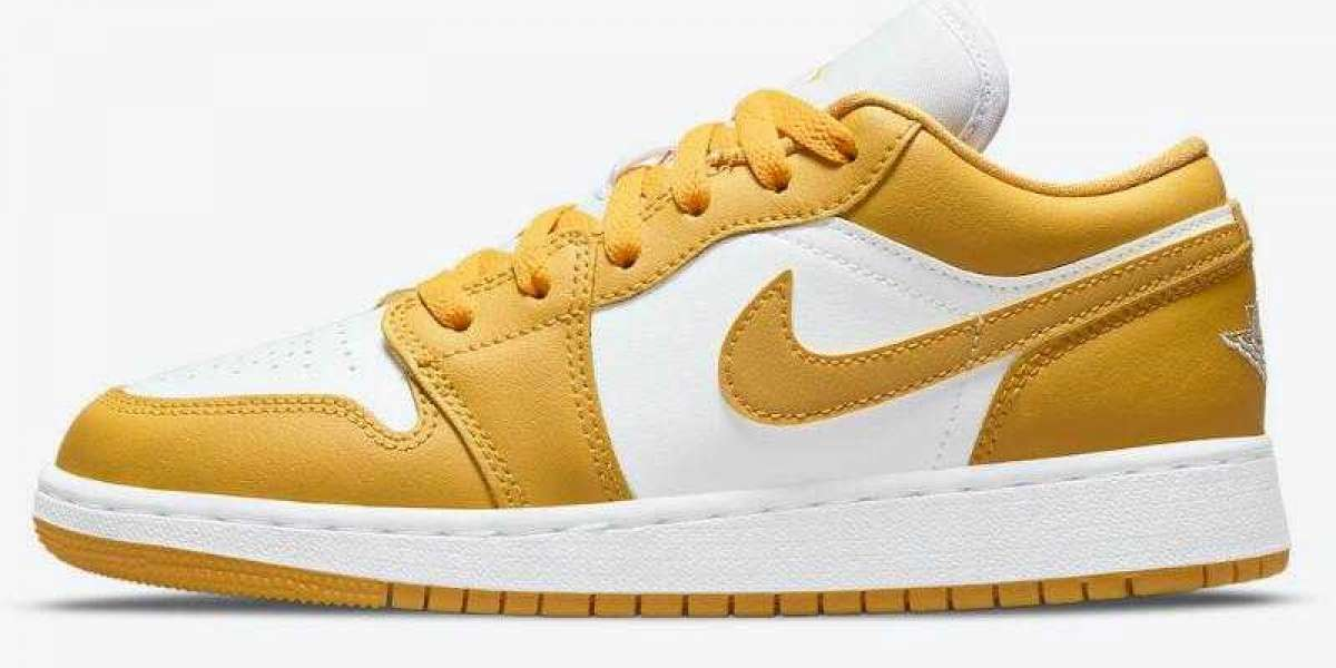 Go Hiking Shoes Air Jordan 1 Low GS Releasing With Mustard Yellow